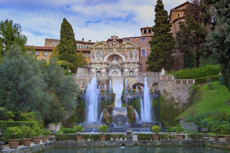 别墅d ` Este, Tivoli多数普遍的旅行的目的地在拉齐奥 免版税图库摄影