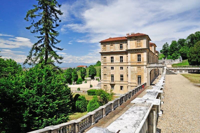 别墅della雷日纳在都灵,山麓 库存图片