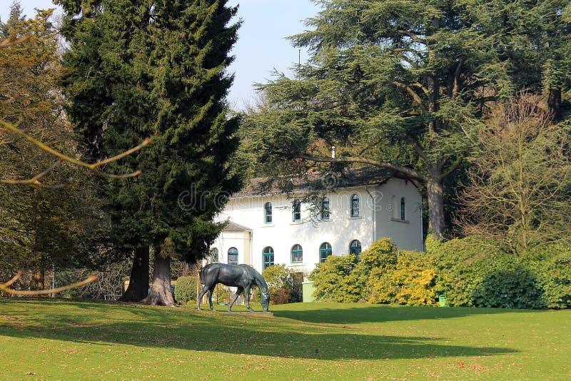 别墅HÃ ¼胶凝体和公园埃森Bredeney 库存照片