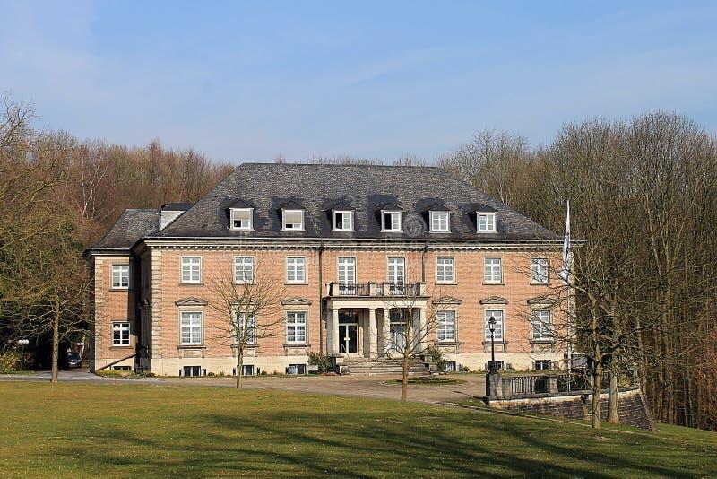 别墅HÃ ¼胶凝体和公园埃森Bredeney 免版税库存图片