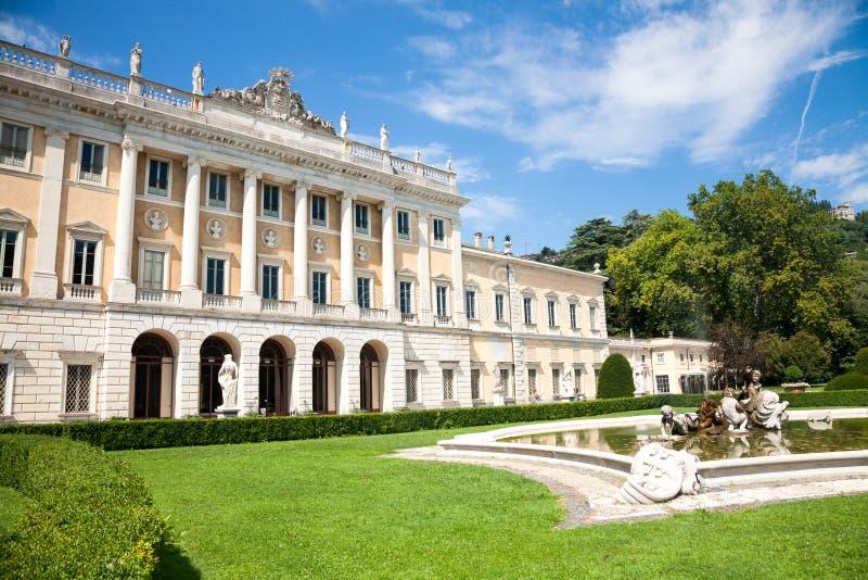 别墅Olmo,科莫,意大利 库存照片