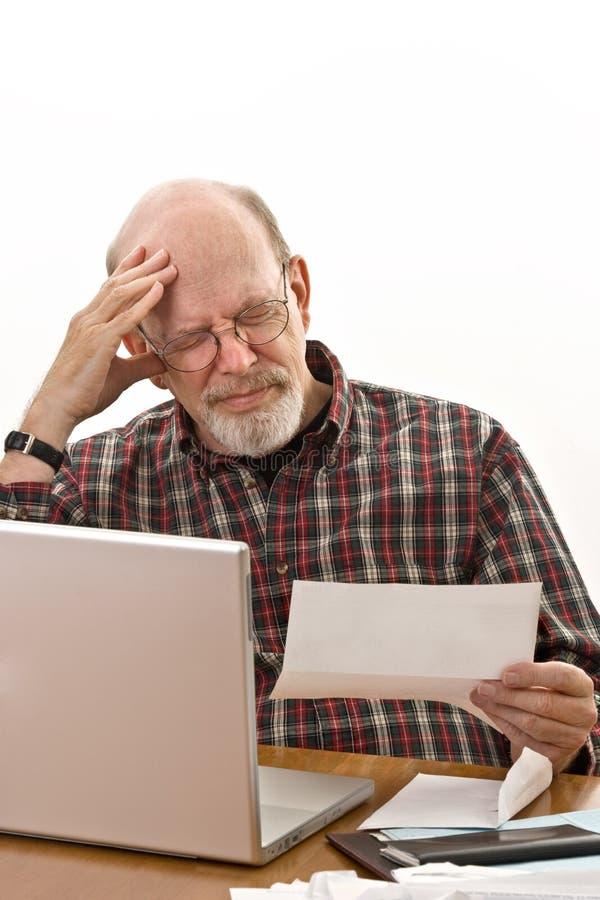 别的延迟通知单付款 免版税库存图片