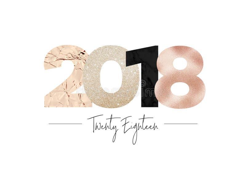 别致闪耀的典雅金属2018年 免版税库存图片