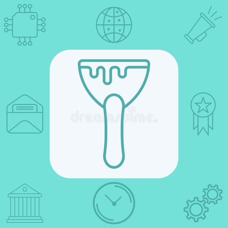 刮板传染媒介象标志标志 向量例证