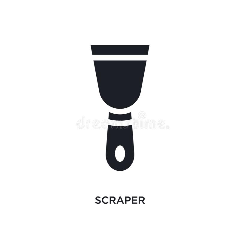 刮板被隔绝的象 从建筑概念象的简单的元素例证 刮板编辑可能的商标标志标志设计  向量例证