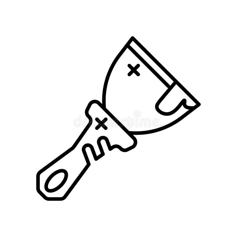 刮板象在白色背景和标志隔绝的传染媒介标志,刮板商标概念 皇族释放例证