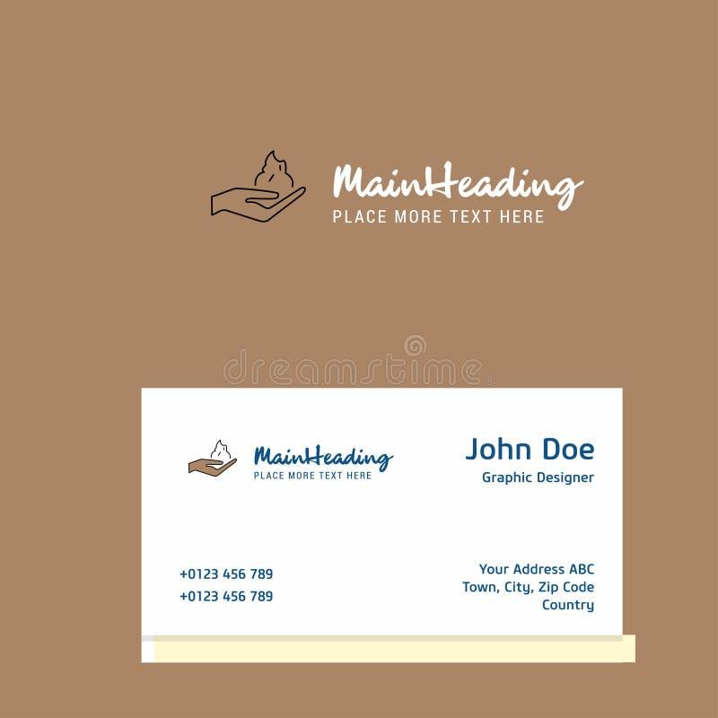 刮泡沫与名片模板的商标设计 典雅的公司本体 使用木炭羽毛画笔(膨胀)作为分级显示, - 库存例证