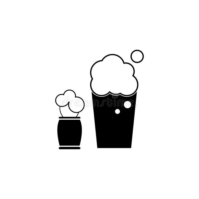 刮泡沫象 理发店的元素广告标志、流动概念和网apps的 网站设计和developm的象 向量例证