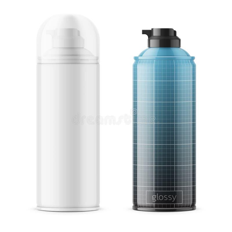 刮的泡沫光滑的锡罐 向量例证