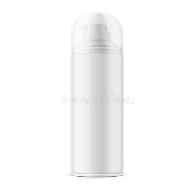 刮的泡沫白色光滑的锡罐 向量例证