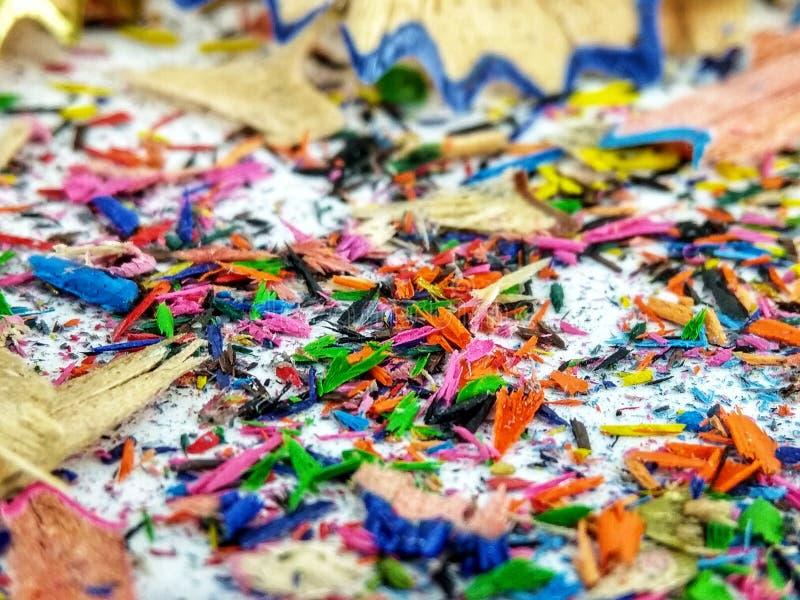 刮的色的铅笔 免版税库存图片