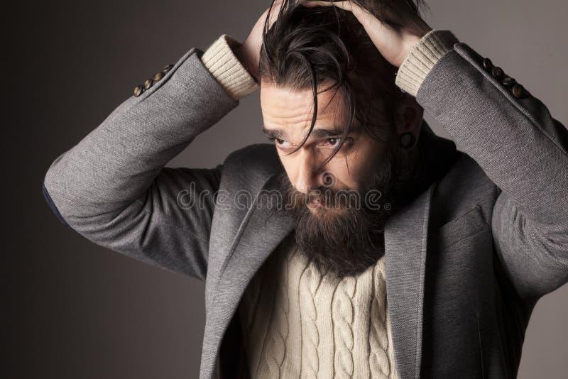 刮胡须人 免版税库存图片
