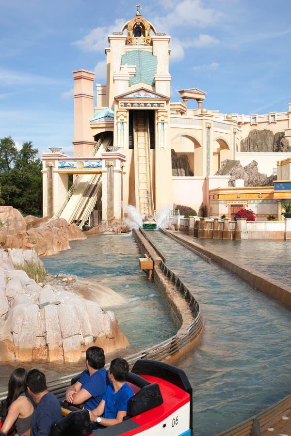 到亚特兰提斯日志水道的旅途 免版税图库摄影