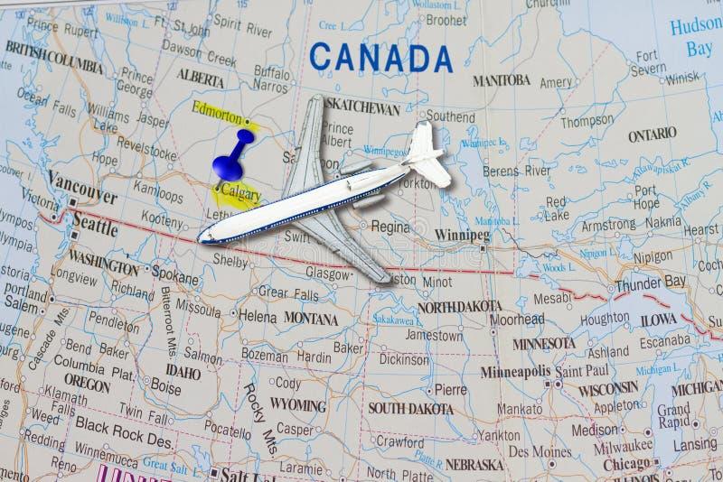到加拿大概念的旅行 免版税库存图片