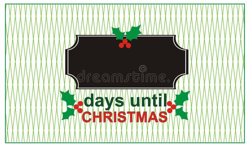 直到圣诞节的几天 库存例证