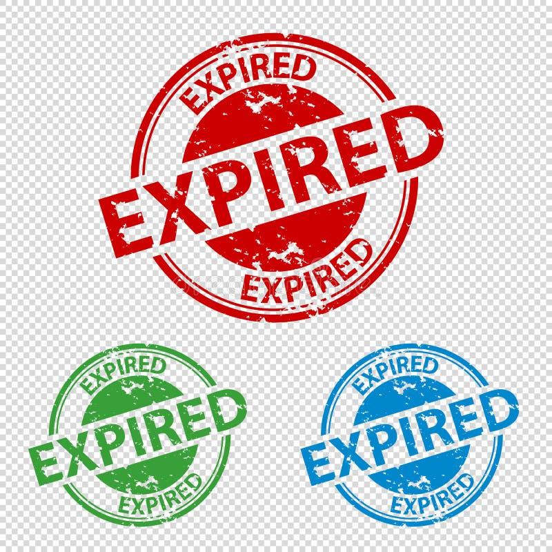 到期的不加考虑表赞同的人封印-五颜六色的传染媒介例证-隔绝在透明背景 皇族释放例证