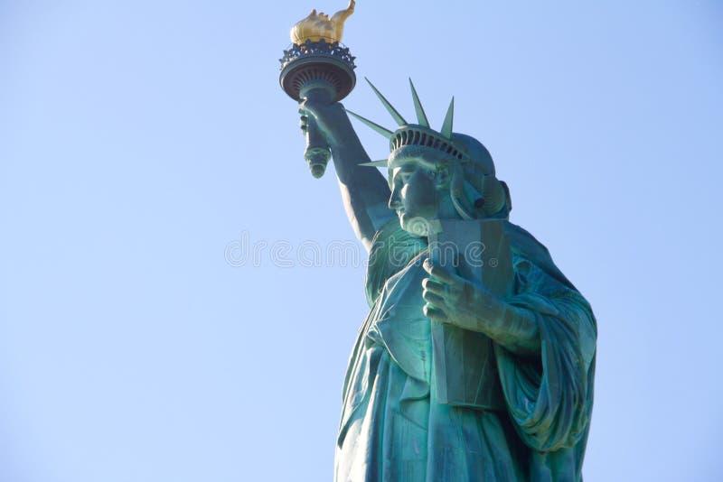 到自由女神像的参观 免版税库存图片