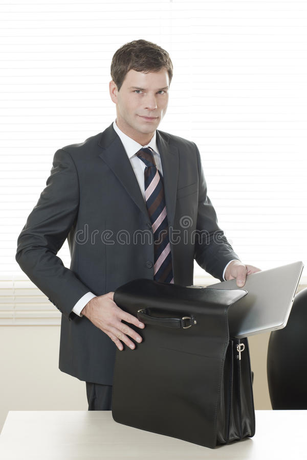 到达回家办公室准备好 库存图片