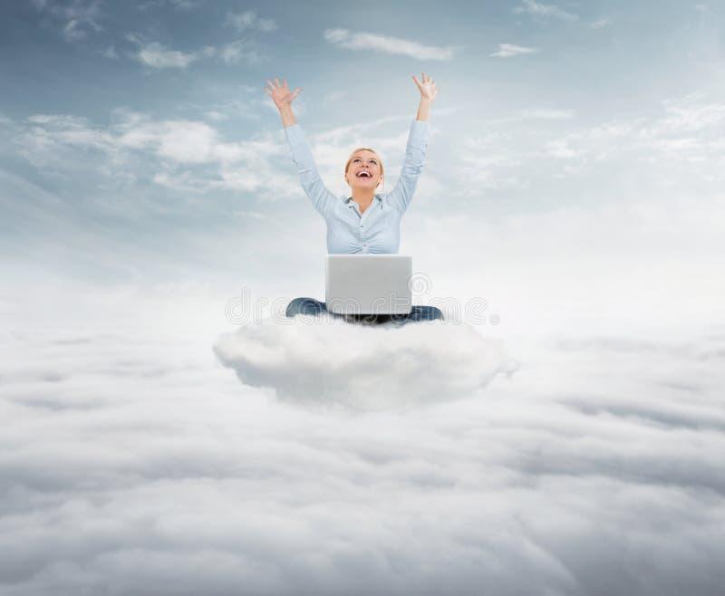 到达天空概念 免版税图库摄影