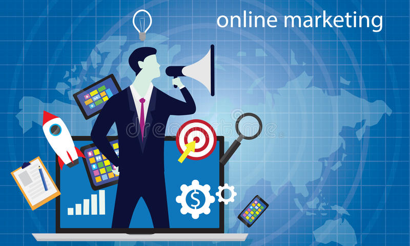到达天空的企业概念金黄回归键所有权 互联网网上数字式营销传染媒介 库存例证