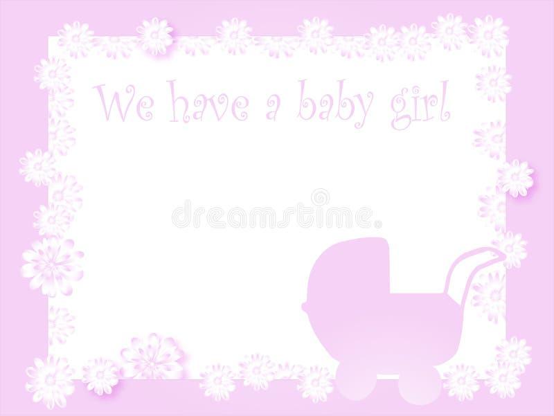到达女婴 向量例证
