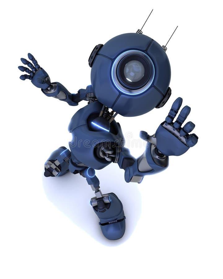 到达由天空决定的机器人 皇族释放例证