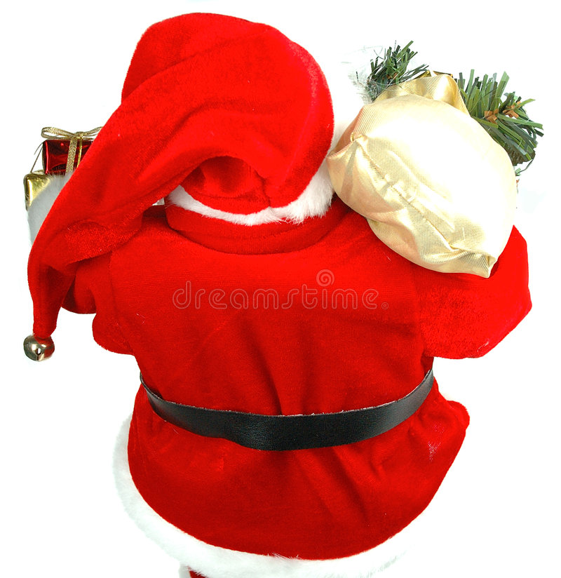 到达的圣诞老人 库存照片