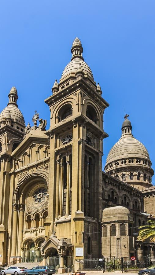 到达69米的Basilica de los Sacramentinos圆屋顶 免版税库存照片