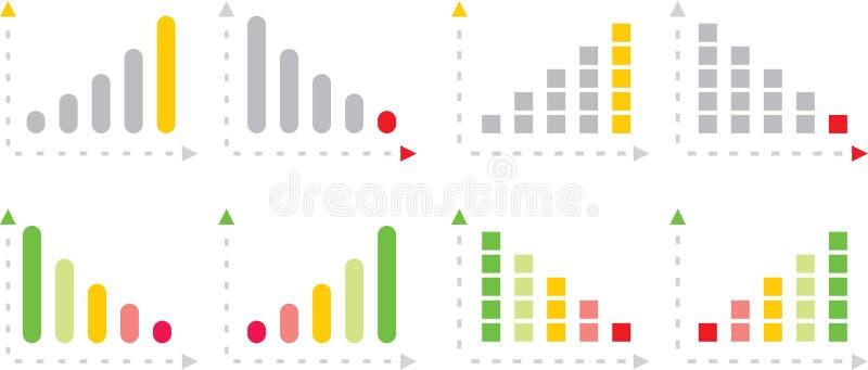 绘制五颜六色图表 免版税库存照片