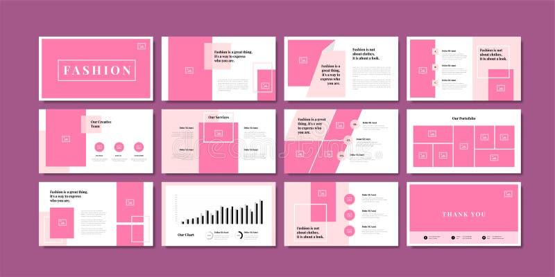 制作最简幻灯片演示背景模板 业务演示模板 向量例证