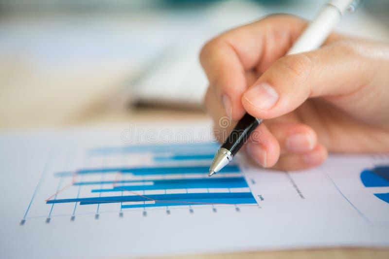 绘制多种财务现有量图表写道 免版税图库摄影