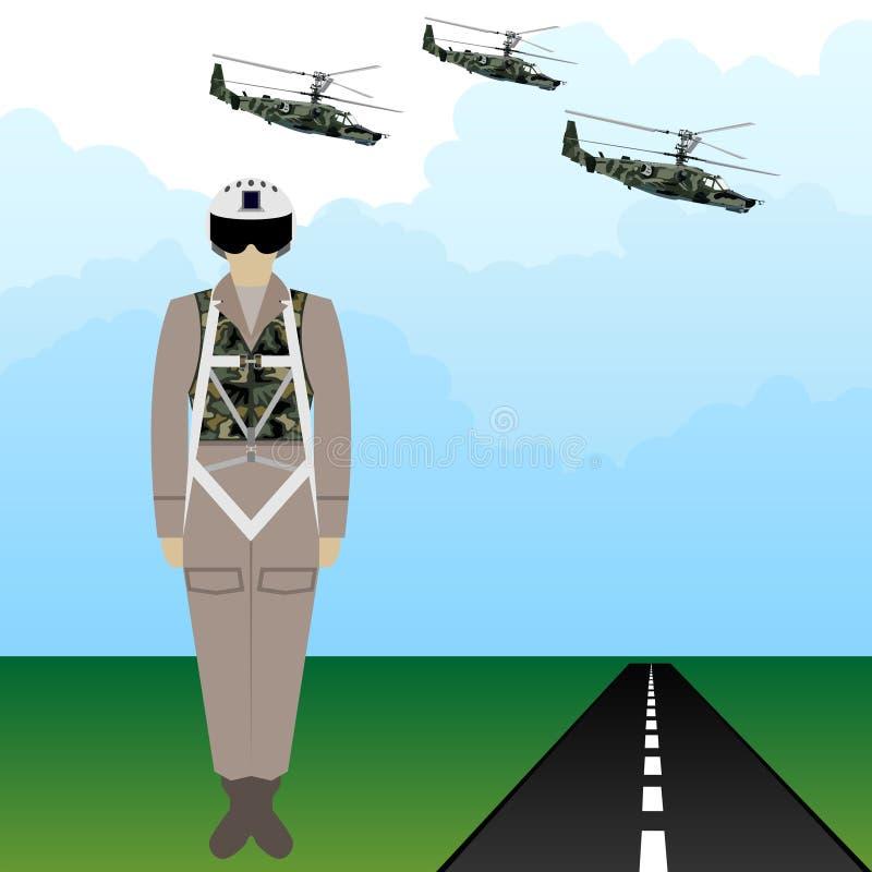 制服俄国军事飞行员1 皇族释放例证