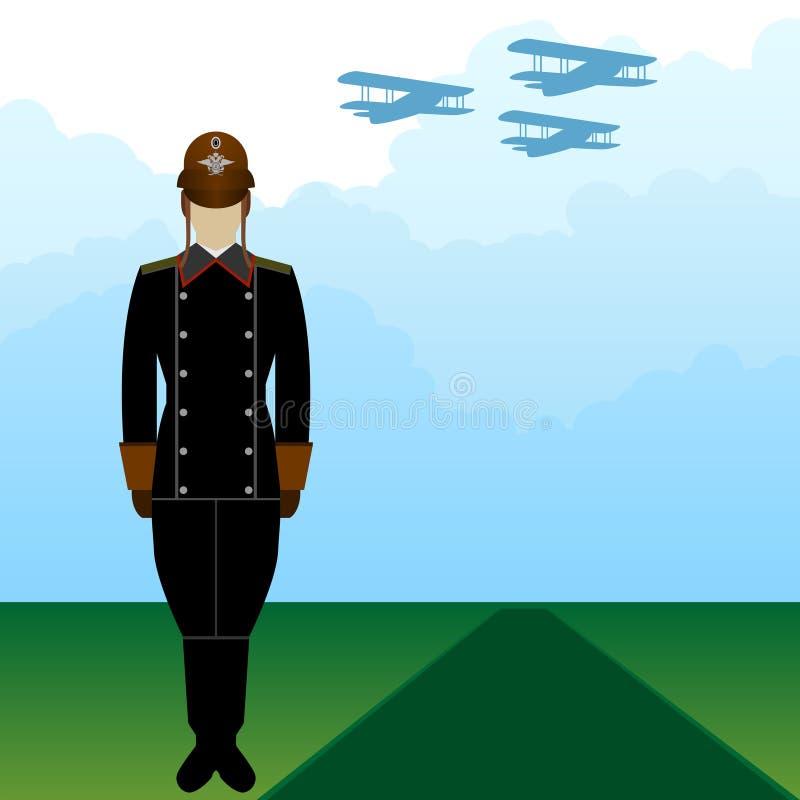 制服俄国军事飞行员2 皇族释放例证