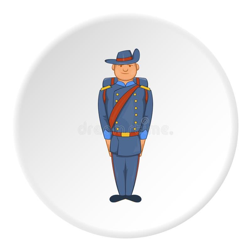 制服的战士有背包象的 库存例证
