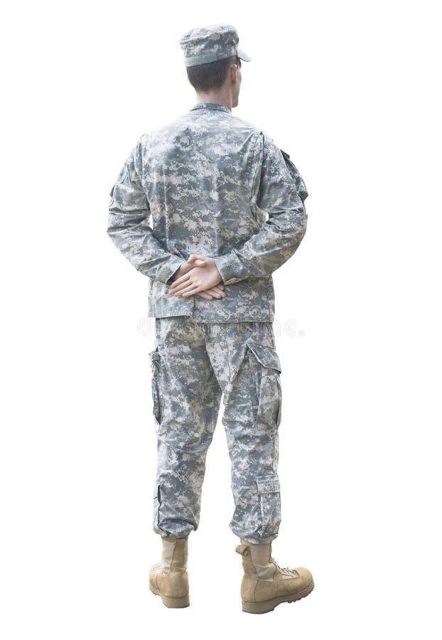 游行休息战士被隔绝 免版税库存照片