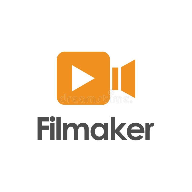 制片商与圈子概念的商标设计 皇族释放例证