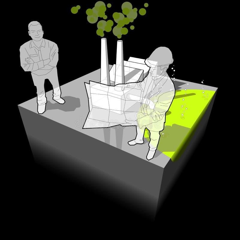绘制行业污染 向量例证