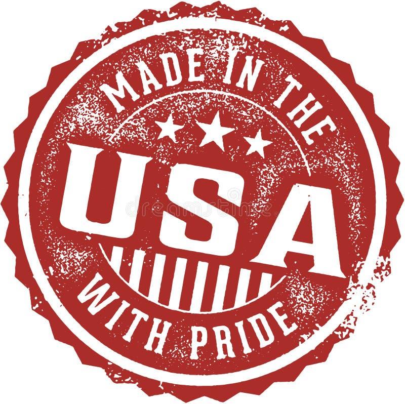 制造在有自豪感象征的美国 皇族释放例证