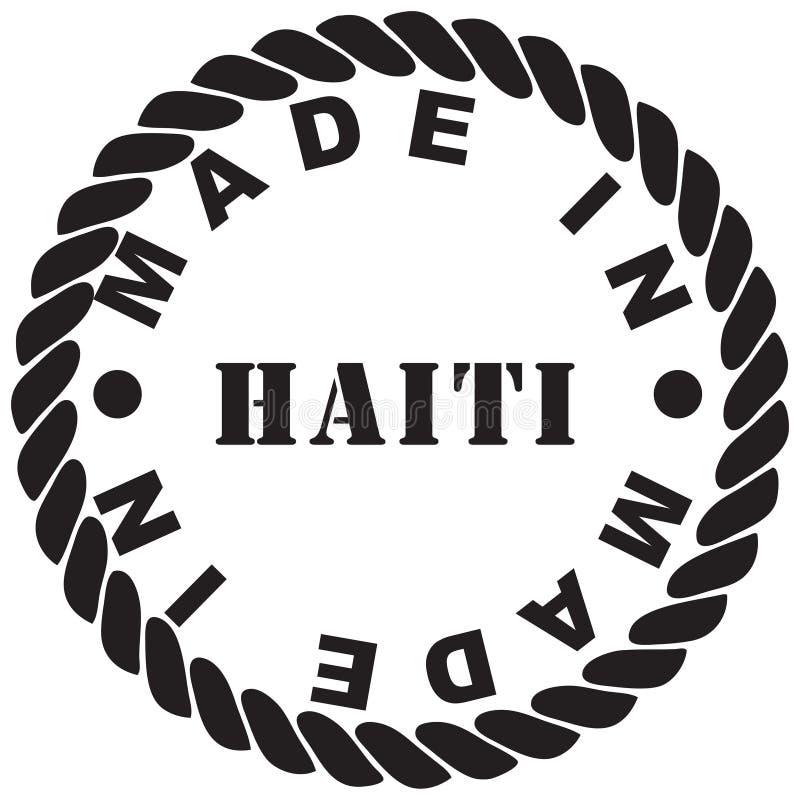 制造在海地 向量例证