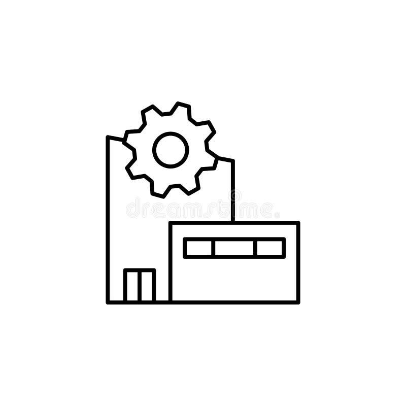 制造工厂象 生产象的元素流动概念和网apps的 稀薄的线制造工厂象可以是我们 皇族释放例证