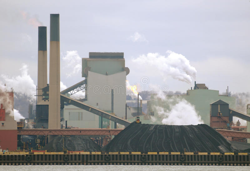 制造的老工厂钢 免版税图库摄影