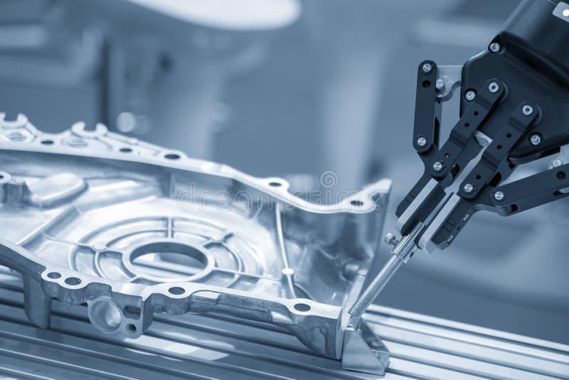 制造的铝汽车部分机器人 库存图片