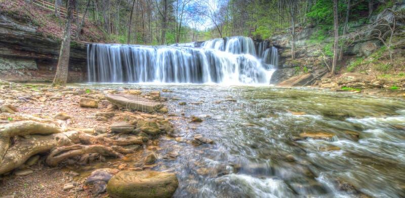 刷子位于西维吉尼亚的小河秋天 免版税图库摄影