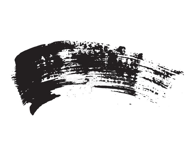 刷子冲程在白色背景设置了手拉的难看的东西纹理传染媒介例证被隔绝 皇族释放例证