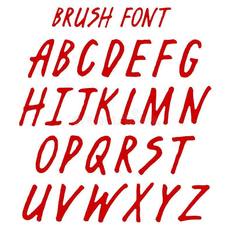 刷子手写的充分的字母表 向量例证