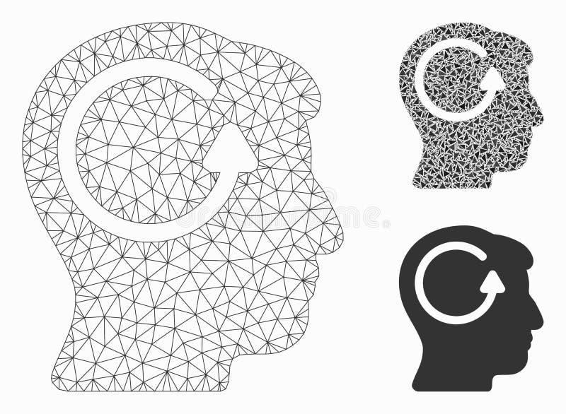 刷新顶头记忆传染媒介滤网第2个模型和三角马赛克象 皇族释放例证