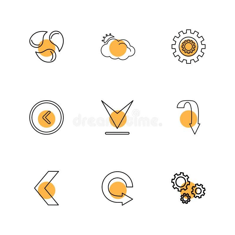 刷新,下载,支持,箭头,方向,左,权利 向量例证