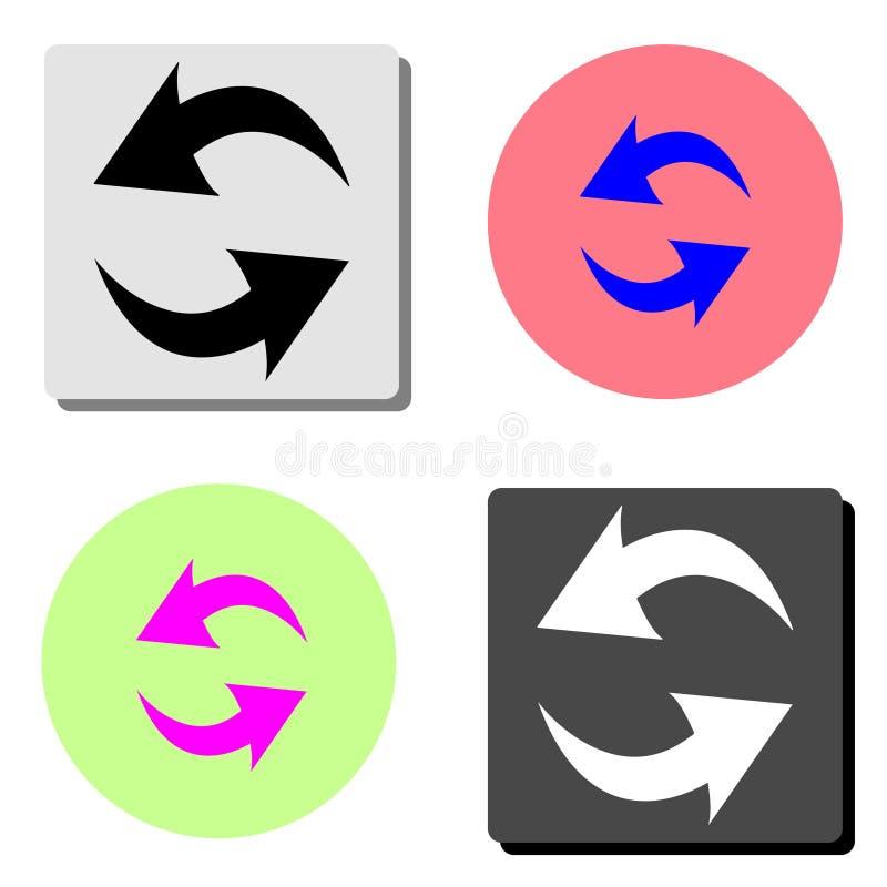 刷新,再装 平的传染媒介象 库存例证