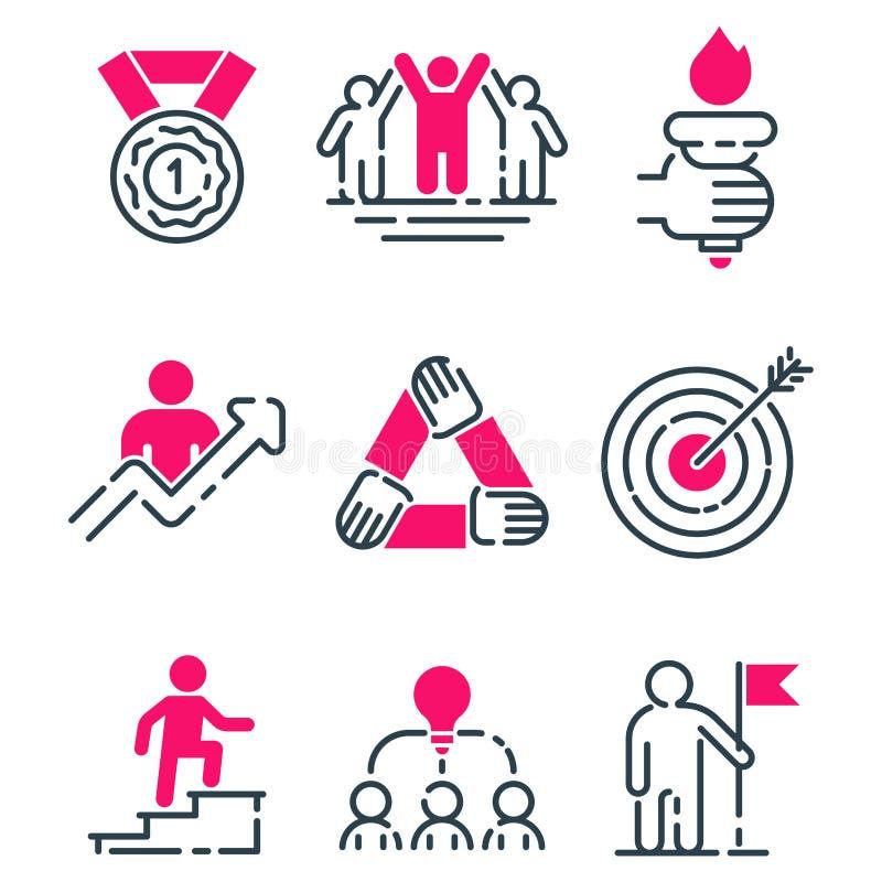 刺激概念图桃红色象经营战略发展设计和管理领导配合成长 向量例证