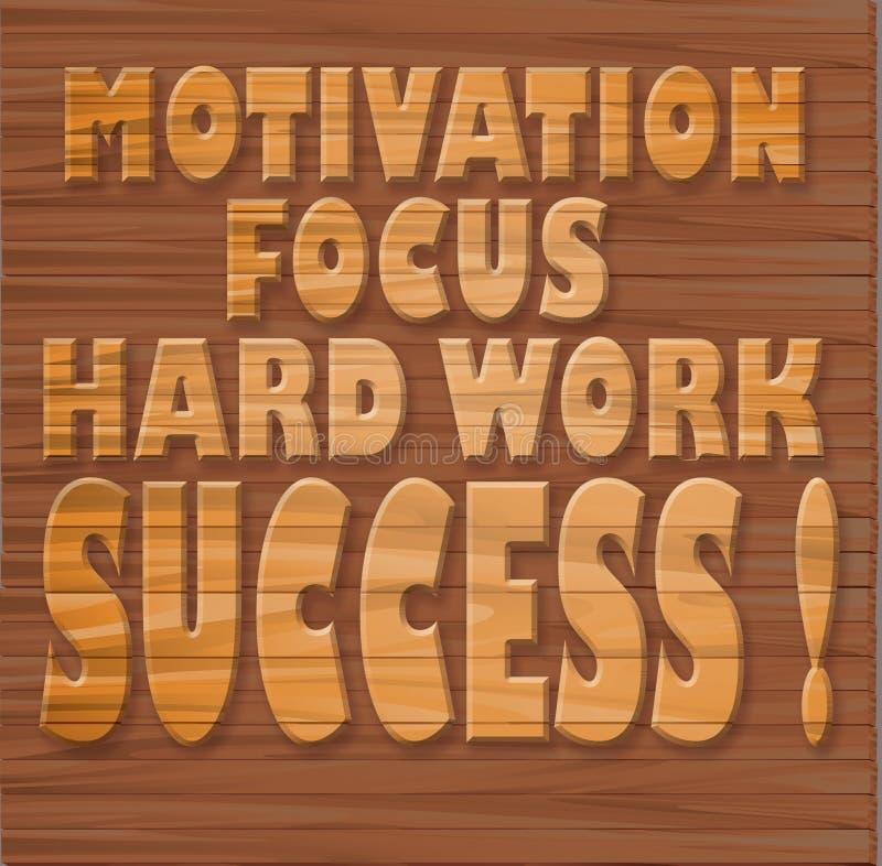 刺激,焦点,坚苦工作,成功! 向量例证